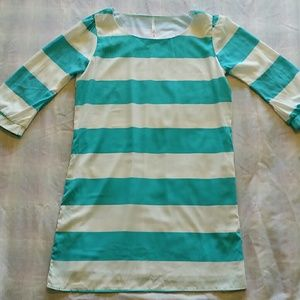 Pre-owned Turquoise and White dress/tunic great co